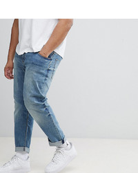 ASOS DESIGN Plus Slim Jeans In Mid Wash
