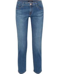 J Brand Sadey Cropped Mid Rise Slim Leg Jeans