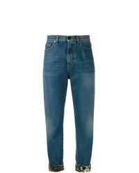 Saint Laurent Sequin Turn Up Jeans