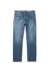 KAPITAL Slim Fit Embroidered Denim Jeans