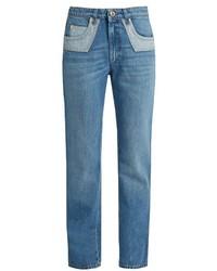 Sonia Rykiel Bi Colour Pockets Straight Leg Jeans