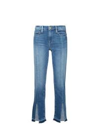 Frame Denim Split Hem Jeans