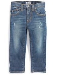 Armani Junior Straight Leg Roll Cuff Jeans