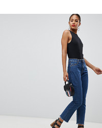 Missguided Tall Wrath Kick Flare Jeans In Mid Wash