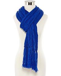 Blue Knit Scarf