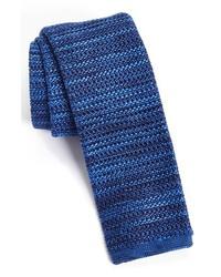 BOSS HUGO BOSS Knit Silk Tie Blue One Size