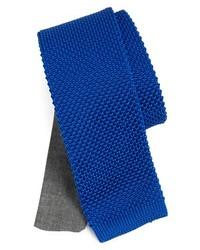 Edit by The Tie Bar Knit Silk Tie Blue Regular