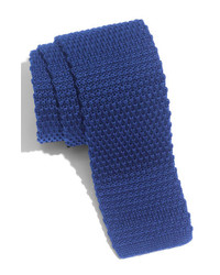 1901 Skinny Knit Tie Blue Regular