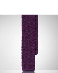 Ralph Lauren Purple Label Solid Knit Silk Tie