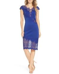 Blue Lace Bodycon Dress