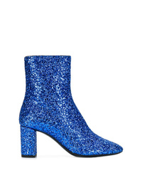 Saint Laurent Glitter Ankle Boots