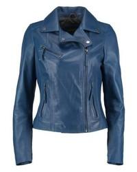 Oakwood Leather Jacket Cobalt