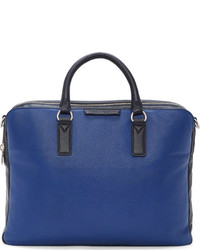Blue Leather Briefcase