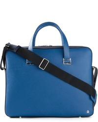 Dunhill Contrasting Panels Laptop Briefcase