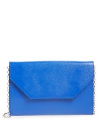 Halogen Angled Leather Day Clutch