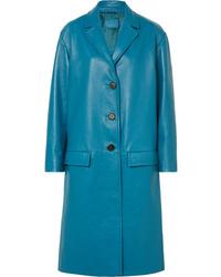Prada Oversized Textured Leather Coat