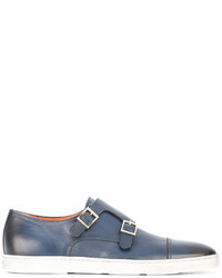 Santoni Double Strap Monk Shoes