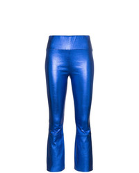 Sprwmn High Waist Flared Leather Trousers