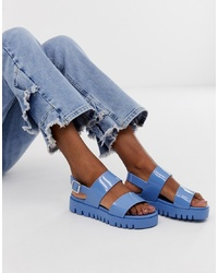 ASOS DESIGN Fadey Chunky Jelly Flat Sandals