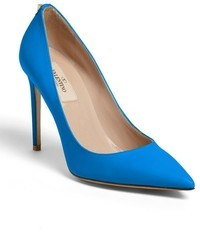 Blue Leather Pumps