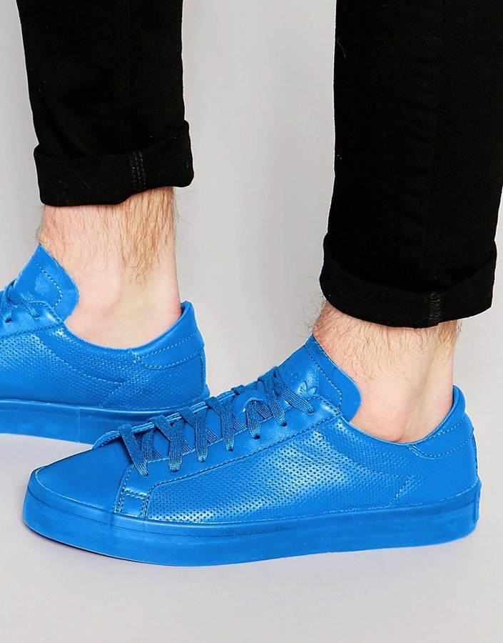 meet 2c21a e5f65 ... adidas Originals Court Vantage Adicolor Sneakers In Blue S80252 ...