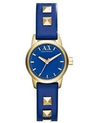 Ax studded leather strap watch 24mm medium 48273