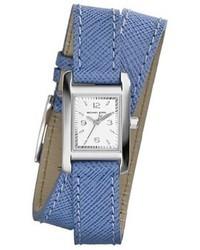 Michl michl kors michl kors mini taylor rectangle leather strap wrap watch 22mm medium 48274