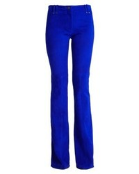 Plein Sud Leather Trousers Blue