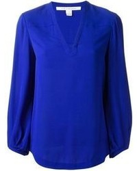 Blue Long Sleeve Blouse