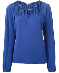 MICHAEL Michael Kors Michl Michl Kors Chain Collar Detail Blouse