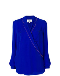Maison Margiela Piped Wrap Blouse