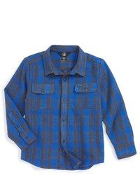 Volcom Boys Copeland Woven Long Sleeve Shirt