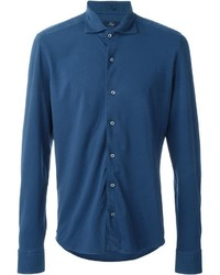Fay Piquet Fitted Button Down Shirt