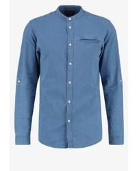 Jack & Jones Jorbenny Slim Fit Shirt Light Blue Denim