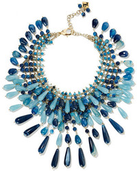 Antica gold tone multi stone necklace blue medium 1126043