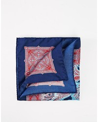 Ted Baker Silk Paisley Pocket Square