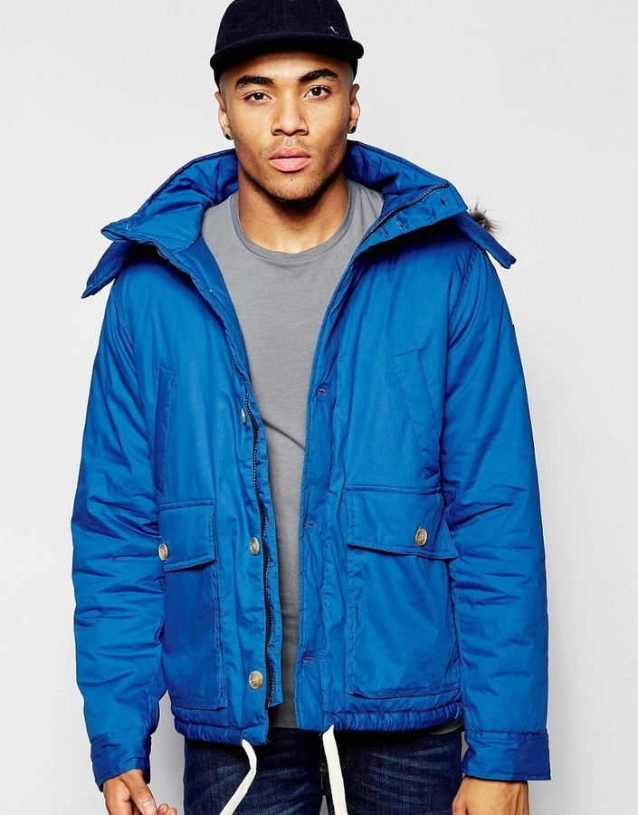 0b9013cab209 NATIVE YOUTH Arctic Parka Jacket With Curved Hem