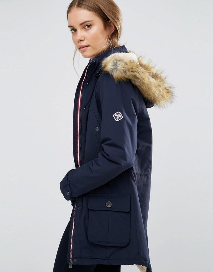 Puffa parka coat
