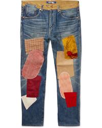 Blue Patchwork Jeans