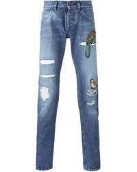 Dolce & Gabbana Bird Patch Jeans