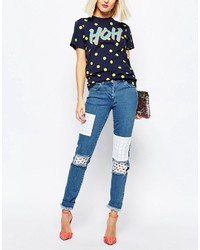 Patch skinny jeans medium 1211025
