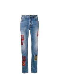 Marcelo Burlon County of Milan Straight Leg Patch Jeans