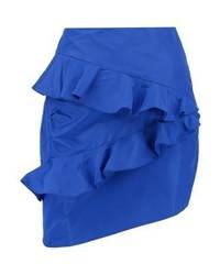 Miss Selfridge Taffata Mini Skirt Cobalt