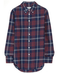 Band Of Outsiders Plaid Cotton Flannel Boyfriend Shirt