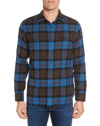 Ludlow trim fit plaid flannel sport shirt medium 1044090