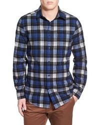 Trim fit brushed plaid flannel shirt medium 388401