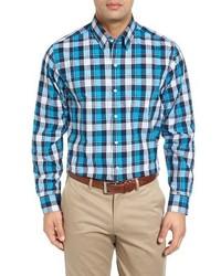 Cutter & Buck Blue Lake Plaid Sport Shirt