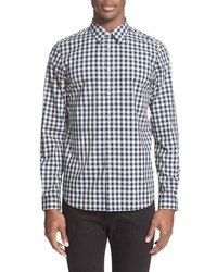 Ps extra trim fit plaid sport shirt medium 611160