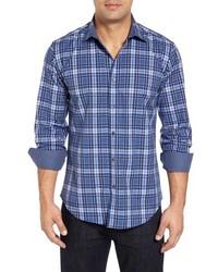 Shaped fit plaid sport shirt medium 915551