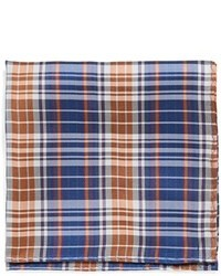 Douglass plaid silk pocket square medium 23469